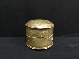 Round copper box no. 184